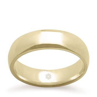Baird Mint 18ct Yellow Gold Champagne 6mm Court Ring - Product number 3100499