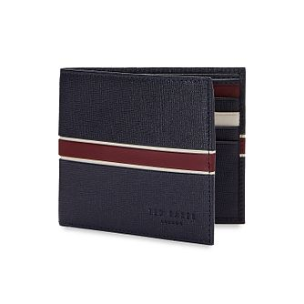 Ted Baker Trave Men's Blue & Red Stripe Leather Wallet - Product number 3104451