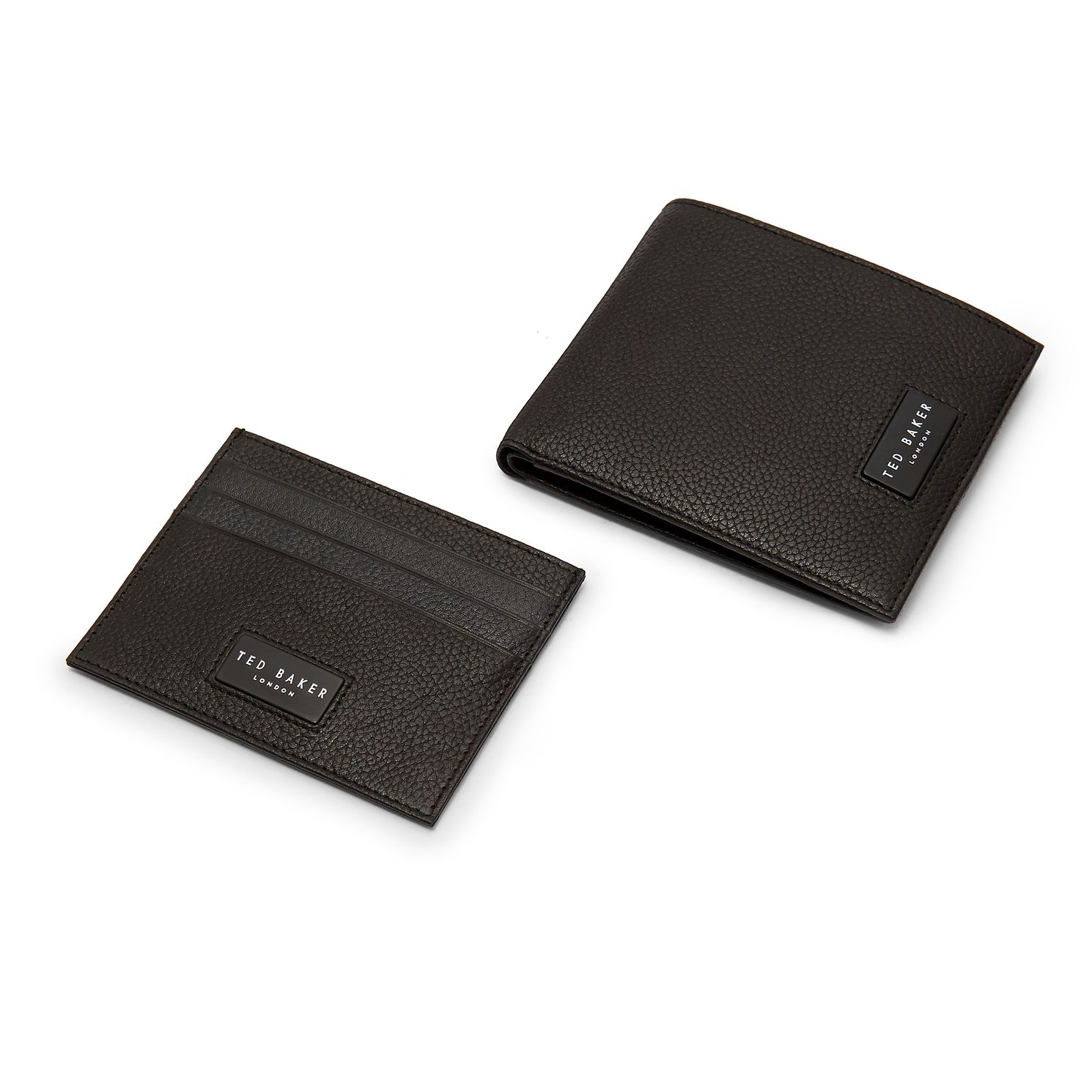 Ted Baker Grenada Black Leather Wallet & Cardholder Gift Set - Product number 3104478