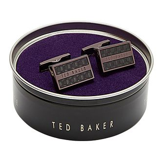 Ted Baker Roosted Brown Rectangular Cufflinks - Product number 3104559