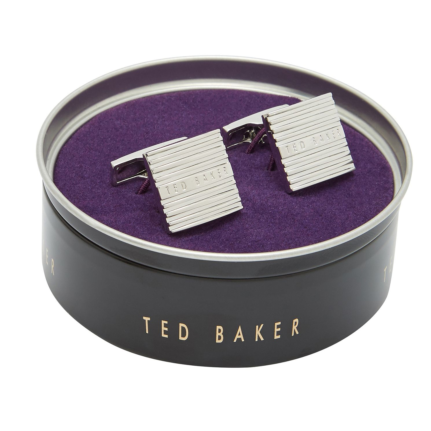 Ted Baker Worth Men's Stripe Square Cufflinks - Product number 3104850