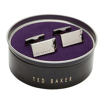 Ted Baker Cinder Crystal Rectangular Cufflinks - Product number 3104893