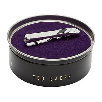 Ted Baker Misbar Black Stripe Tie Bar - Product number 3104907