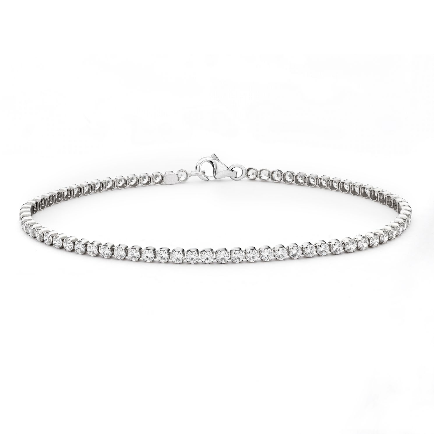 9ct White Gold 1ct Diamond Bracelet - Product number 3105628