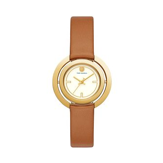 Tory Burch Ladies' Gold Tone Tan Leather Strap Watch - Product number 3108171