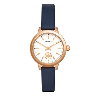 Tory Burch Ladies' Blue Leather Strap Watch - Product number 3108236