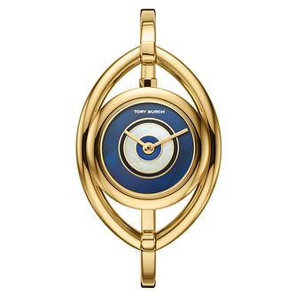 Tory Burch Evil Eye Ladies' Gold Tone Bangle Watch - Product number 3108279