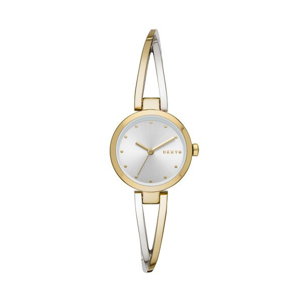 DKNY Crosswalk Ladies' Two Tone Bracelet Watch - Product number 3108333