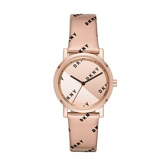 DKNY Soho Ladies' Rose Leather Strap Watch - Product number 3108503