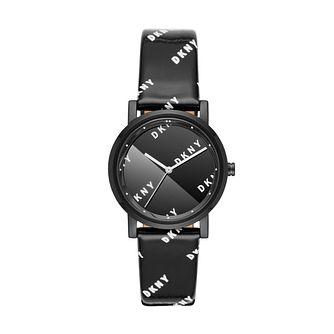 DKNY Soho Ladies' Black Leather Strap Watch - Product number 3108511