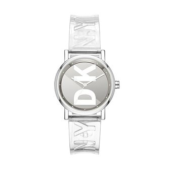 DKNY Soho Ladies' Stainless Steel Clear Strap Watch - Product number 3108538