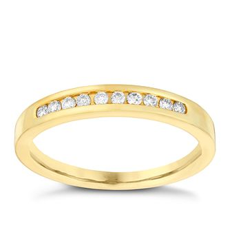 18ct gold 0.15ct diamond eternity ring - Product number 3108880