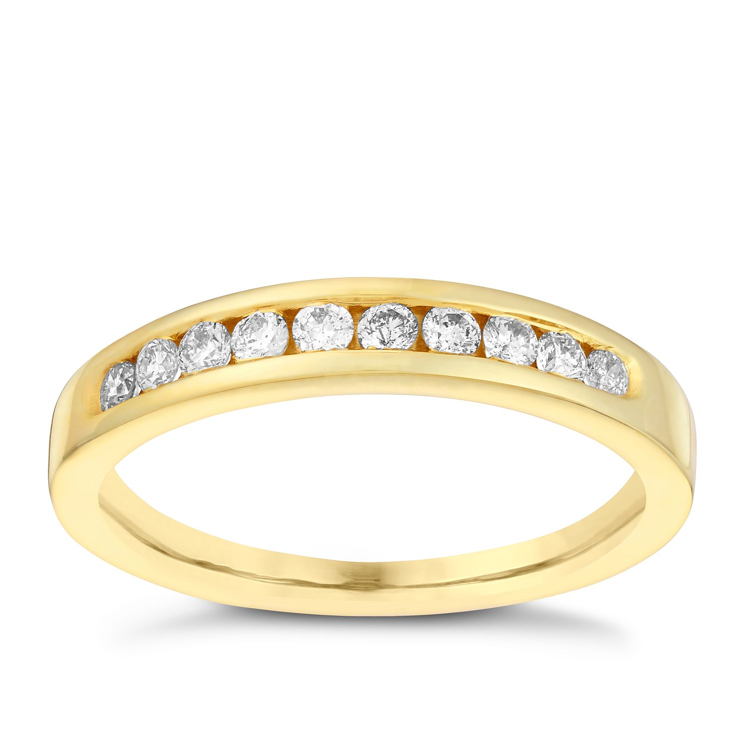 18ct Gold 1/4ct Diamond Eternity Ring - Product number 3109011