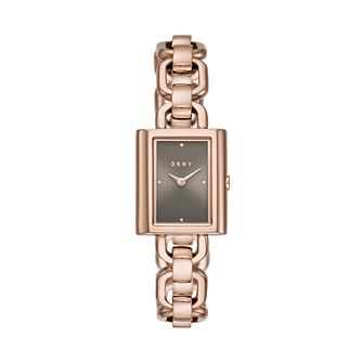 Dkny Uptown Ladies' Rose Gold Tone Bracelet Watch - Product number 3109127