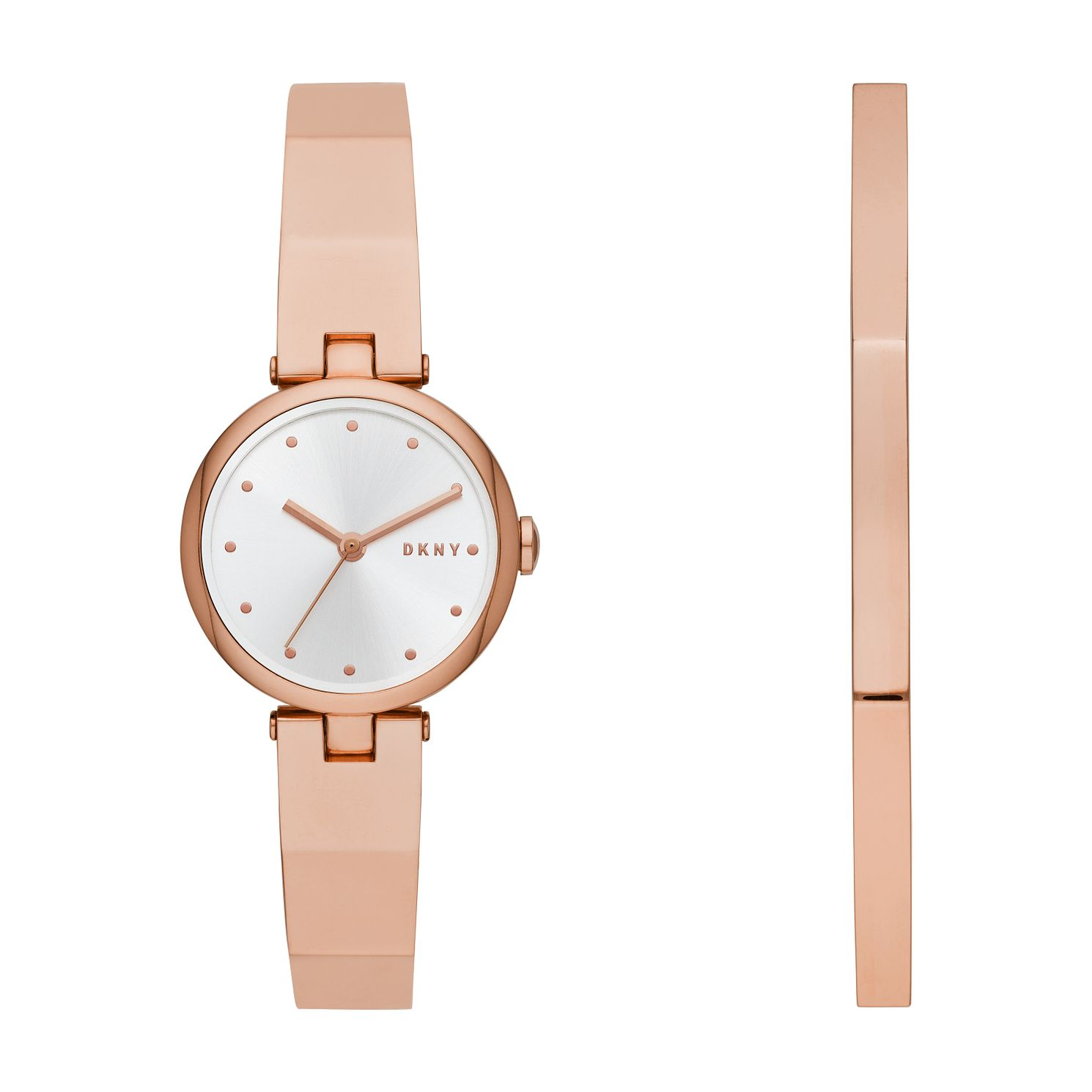 DKNY Eastside Ladies' Rose Gold Tone Watch & Bangle Set - Product number 3109135