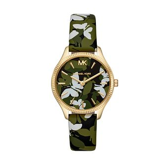 Michael Kors Lexington Ladies' Butterfly Leather Strap Watch - Product number 3109178