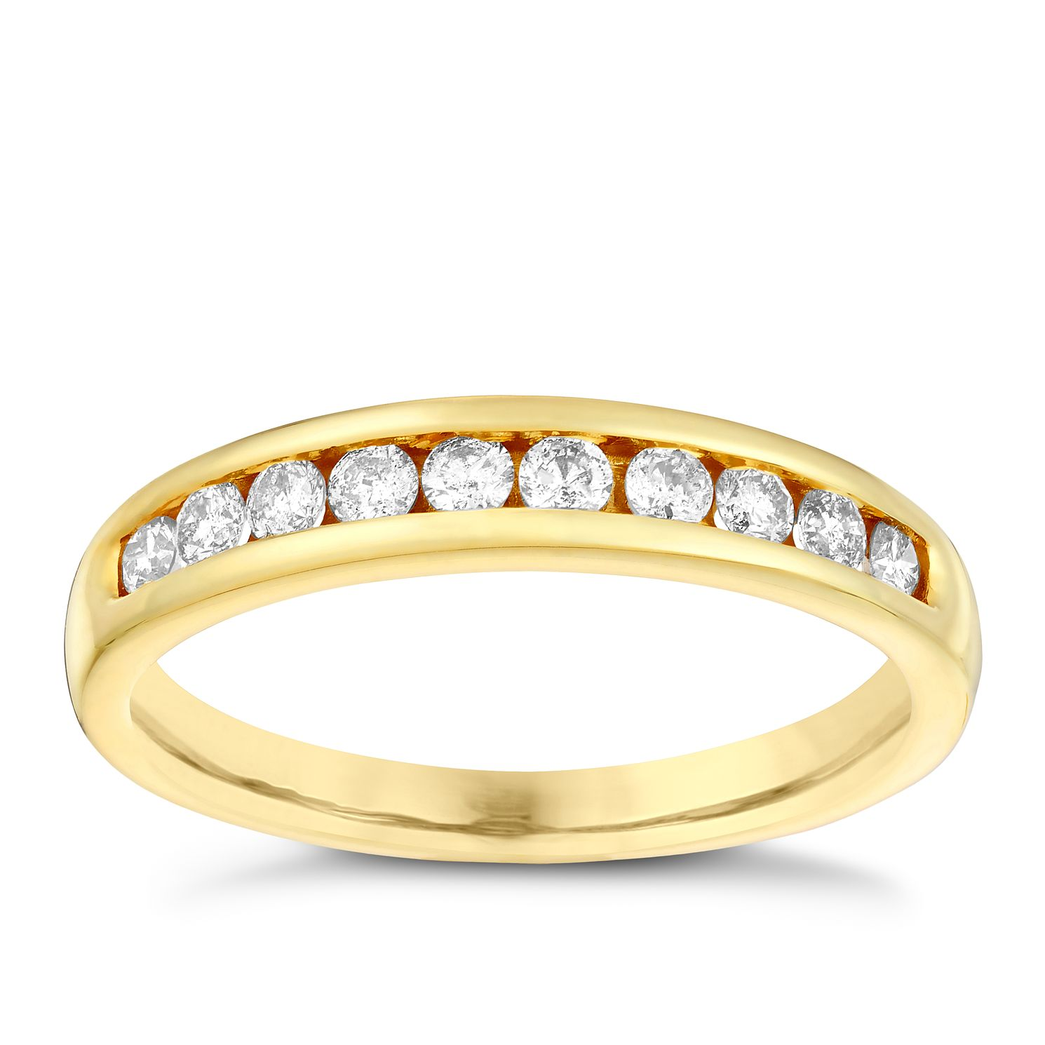 18ct Gold 1/3ct Diamond Eternity Ring - Product number 3109216
