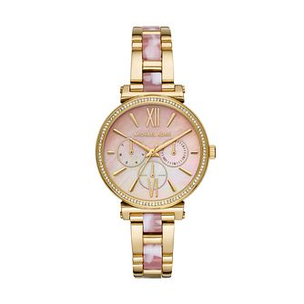 Michael Kors Sofie Ladies' Gold Tone Bracelet Watch - Product number 3109526