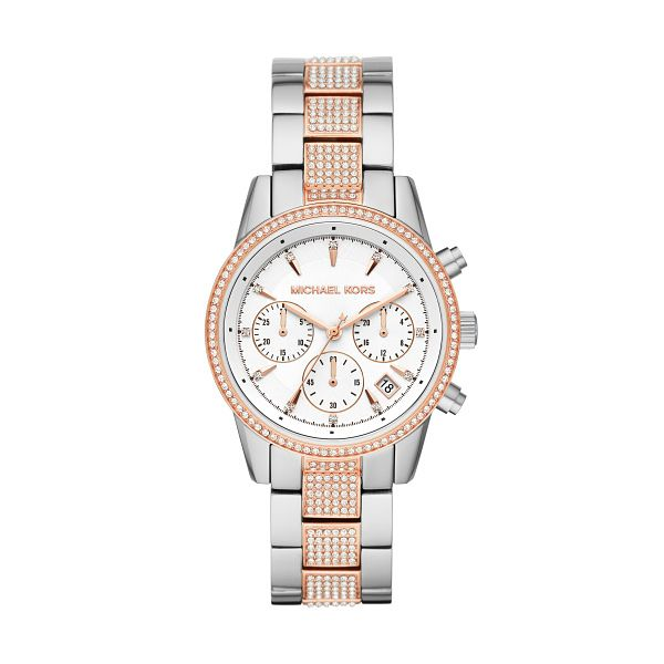 Michael Kors Ritz Ladies' Two Tone Stone Set Bracelet Watch - Product number 3109747