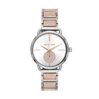 Michael Kors Portia Ladies' Two Tone Bracelet Watch - Product number 3109798
