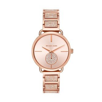 Michael Kors Portia Ladies' Rose Gold Tone Bracelet Watch - Product number 3109801