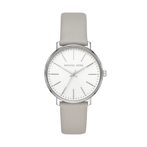 Michael Kors Pyper Ladies' Grey Leather Strap Watch - Product number 3111989