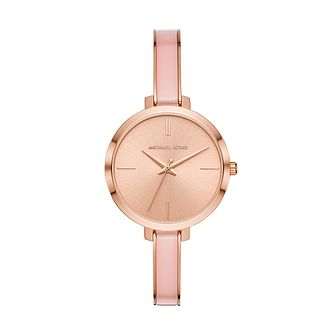 Michael Kors Jaryn Ladies' Rose Gold Tone Bracelet Watch - Product number 3112551