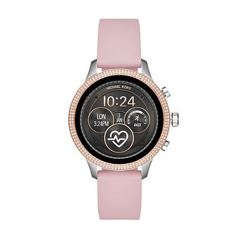 Michael Kors Access Runway Gen 4 Pink Silicone Strap Watch - Product number 3112624