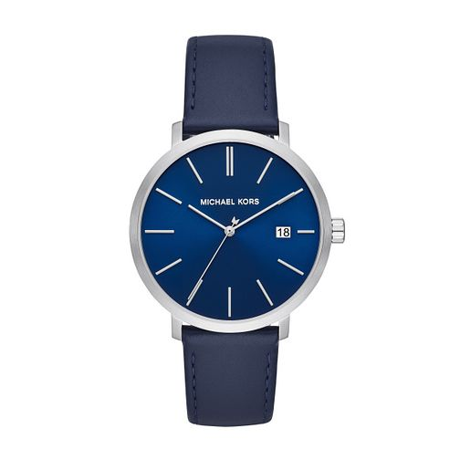 Michael Kors Blake Men's Blue Leather Strap Watch - Product number 3113418