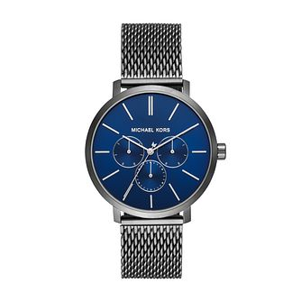 Michael Kors Blake Men's Gunmetal Mesh Bracelet Watch - Product number 3113442