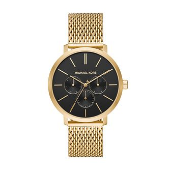 Michael Kors Men's Gold Tone Mesh Bracelet Watch - Product number 3113957