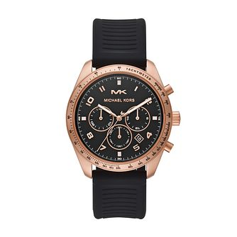Michael Kors Keaton Men's Black Silicone Strap Watch - Product number 3114015