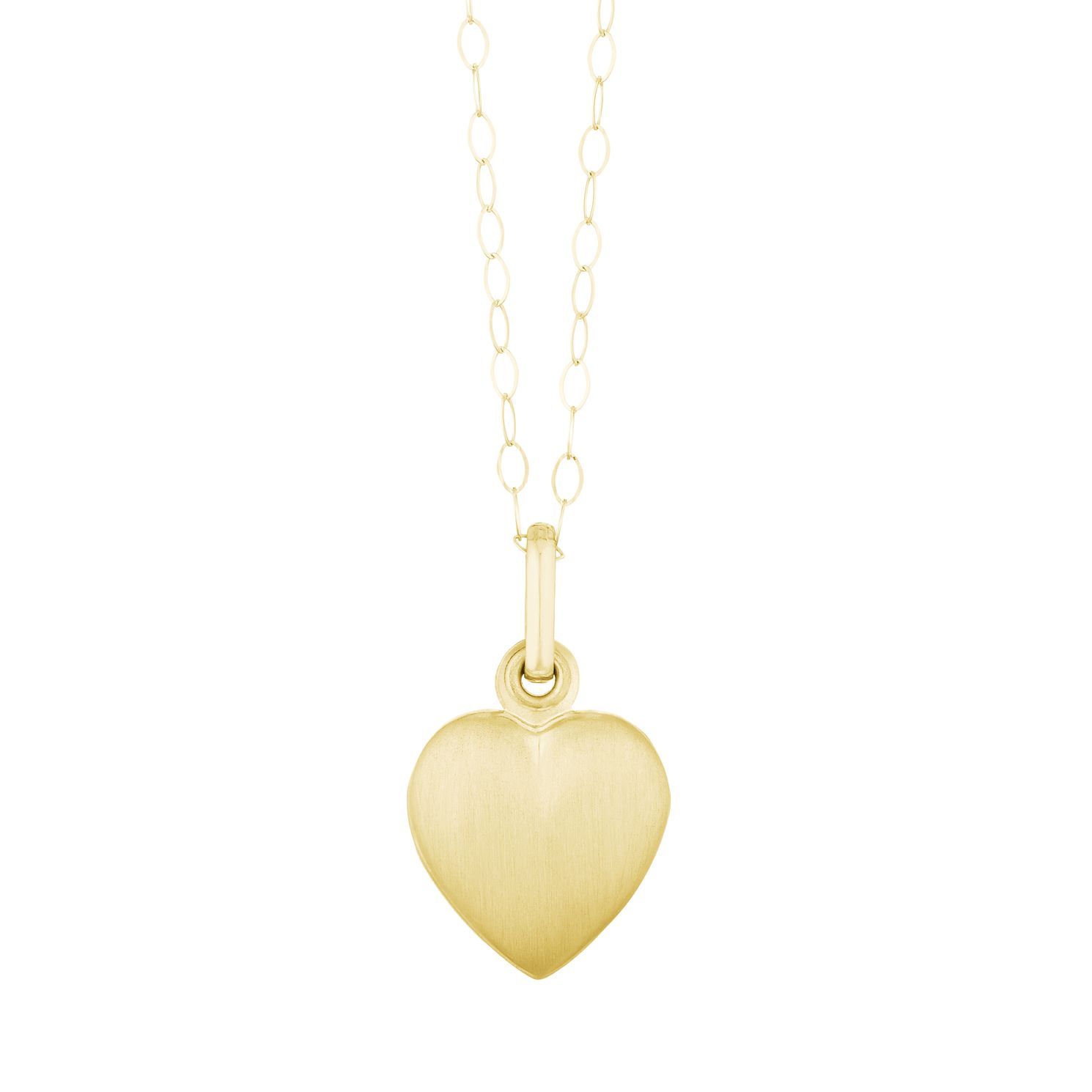 9ct Yellow Gold Matt Heart Locket - Product number 3114635