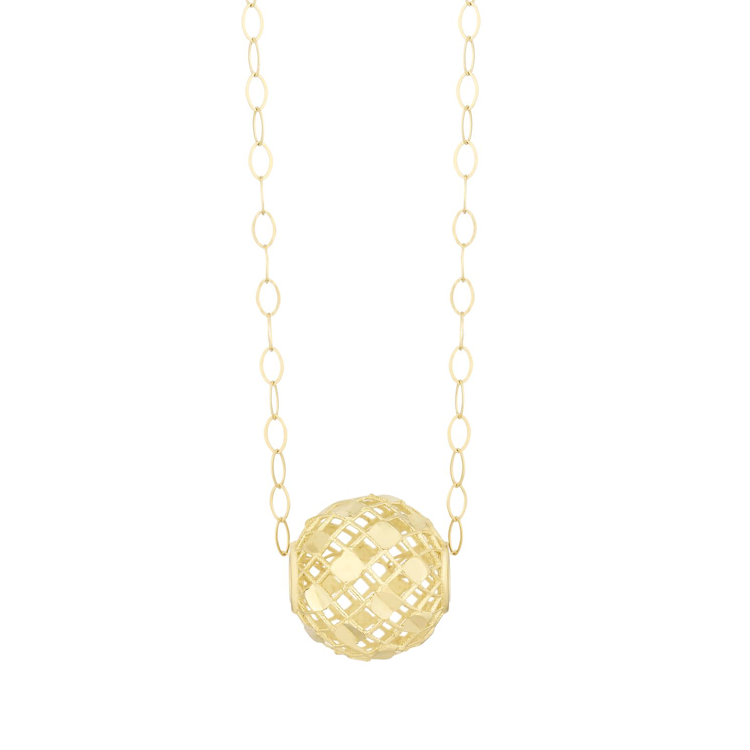 9ct Yellow Gold Cut-Out Mesh Ball Pendant - Product number 3114678