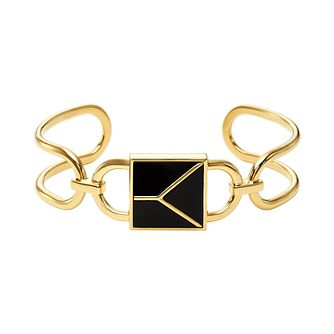 Michael Kors Mercer Link 14ct Gold Plated Black Onyx Cuff - Product number 3115224