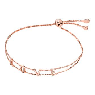 Michael Kors Love 14ct Rose Gold Plated Letters Bracelet - Product number 3115267