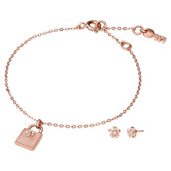 Michael Kors Colour 14ct Gold Plated Earring & Bracelet Set - Product number 3115291