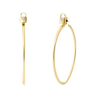 Michael Kors Mercer Link 14ct Gold Plated Hoop Earrings - Product number 3115305