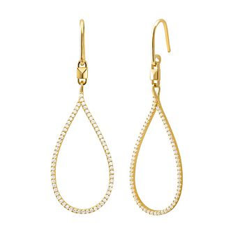 Michael Kors Mercer Link 14ct Yellow Gold Tone Drop Earrings - Product number 3115410