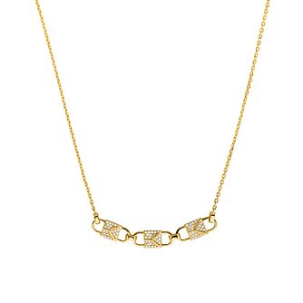 Michael Kors Mercer Link 14ct Yellow Gold Plated Necklace - Product number 3115569