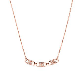 Michael Kors Mercer Link 14ct Rose Gold Plated Necklace - Product number 3115720