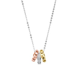 Michael Kors Mercer Link Tri-Tone Sterling Silver Necklace - Product number 3115836