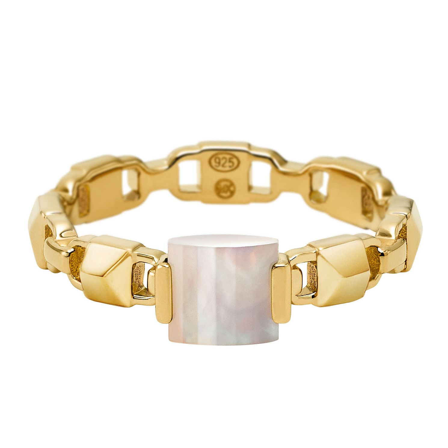 Michael Kors Mercer Link 14ct Yellow Gold Plated Ring - Product number 3115992