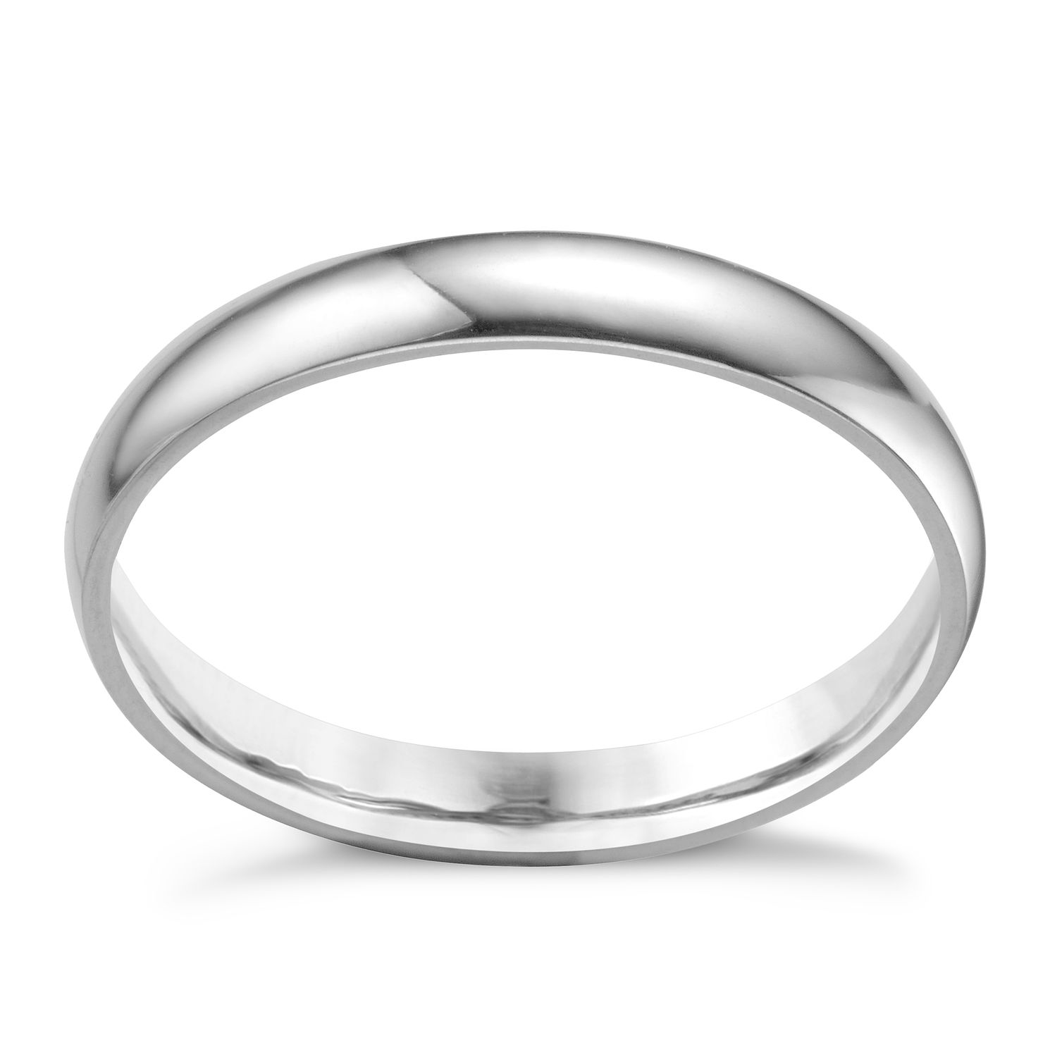 Platinum 3mm Extra Heavyweight Court Ring - Product number 3121445