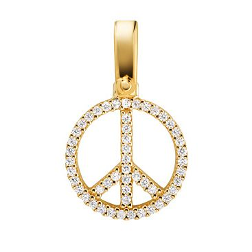 Michael Kors Yellow Gold tone Peace Premium Charm - Product number 3128210