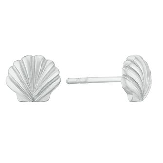 Kids' Silver Sea Shell Stud Earrings - Product number 3128237