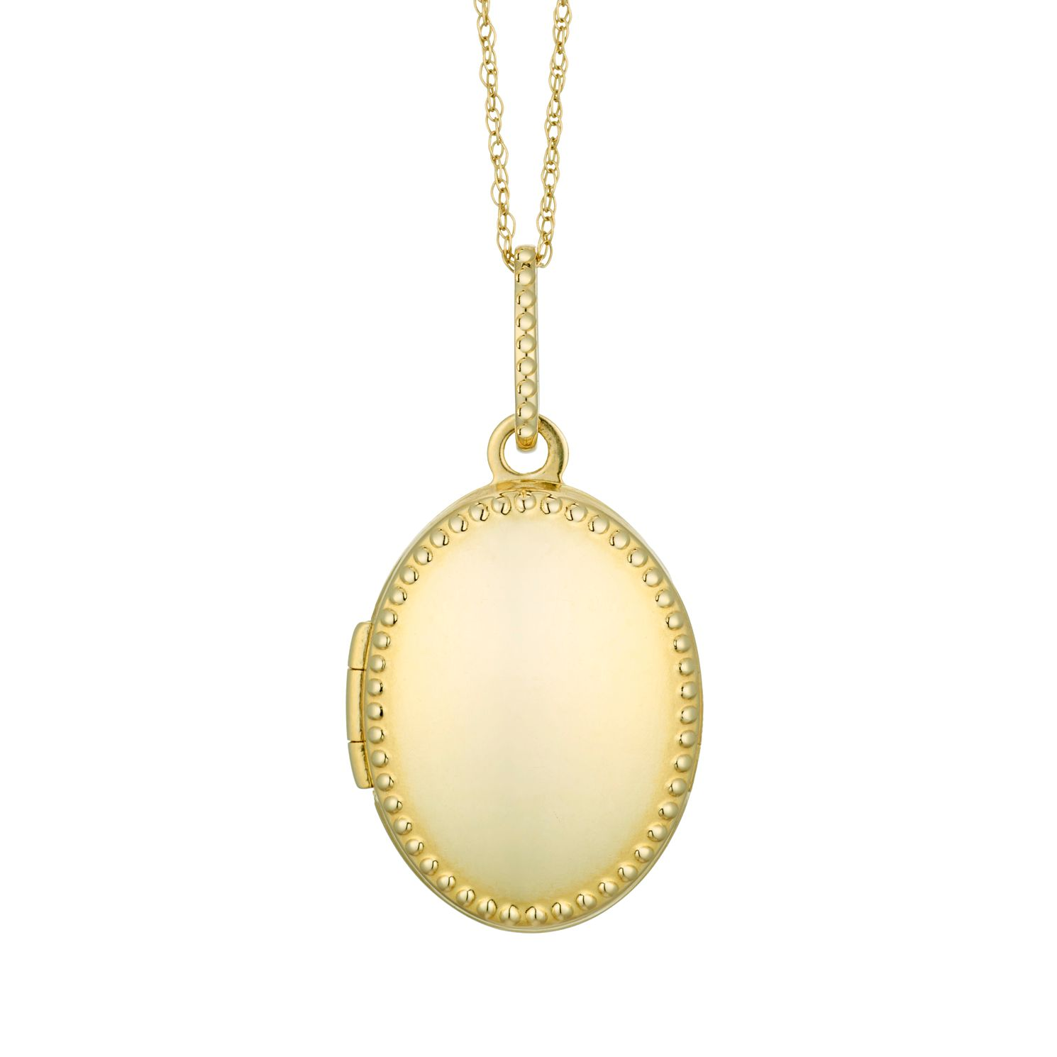 9ct Yellow Gold Beaded Oval Locket - Product number 3128628