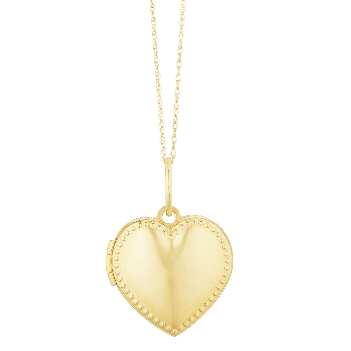9ct Yellow Gold Beaded Heart Locket - Product number 3128636