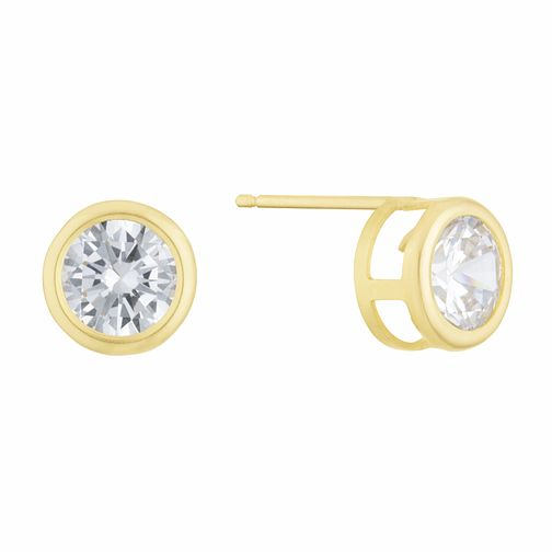 9ct Yellow Gold Cubic Zirconia Round Stud Earrings - Product number 3129020