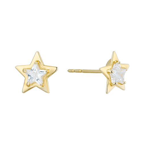 9ct Yellow Gold Cubic Zirconia Star Stud Earrings - Product number 3129101